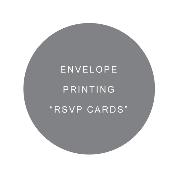 envelope design and printing in black ink for wedding invitations