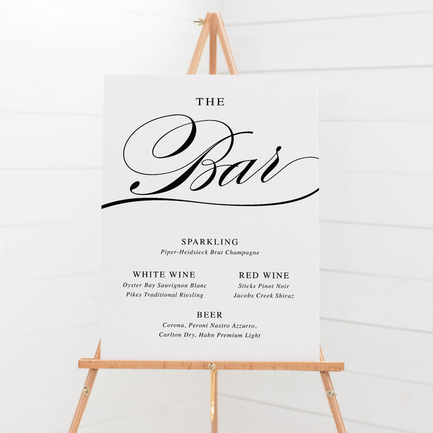 Bar & Beverages Signs - Calligraphy 2