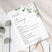 Astrid - Wedding Program