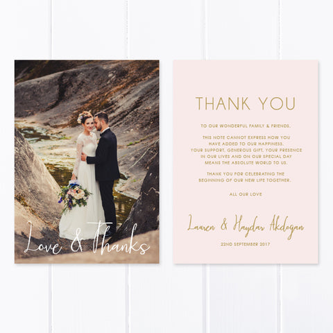 Wedding Thank You Card 14