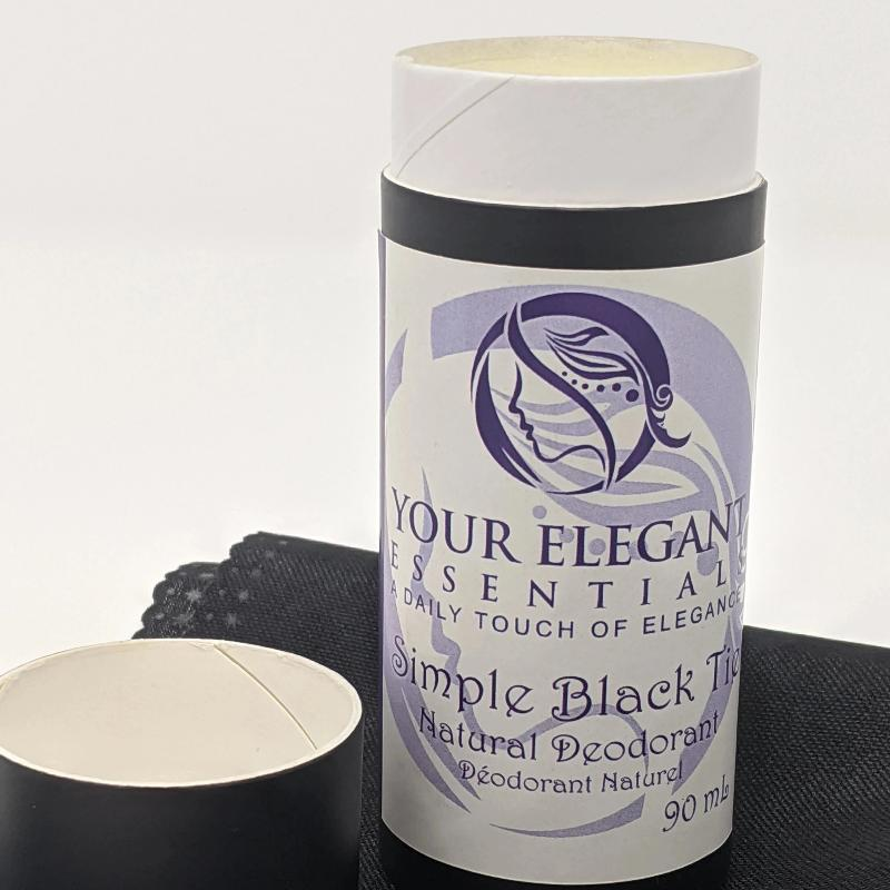 Simple Black Tie Natural Deodorant