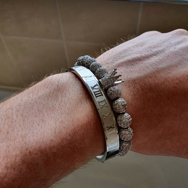 Silver Kings Only Bracelet