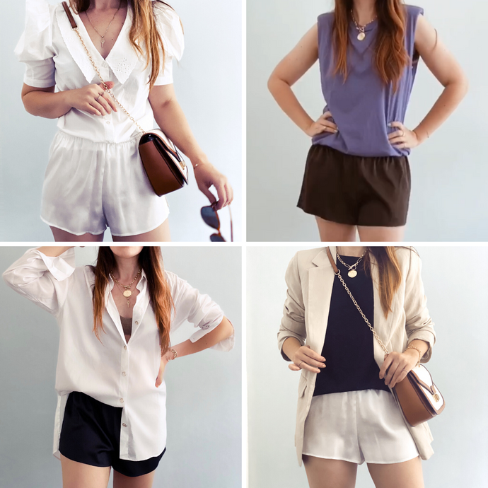 How to wear silk shorts pyjamas this summer?