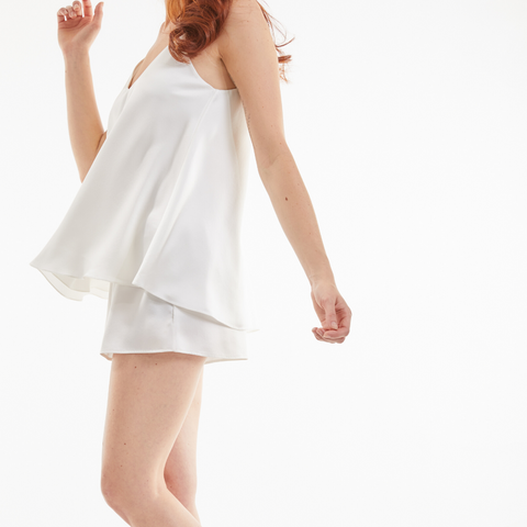Ethical Kind Organic peace silk camisole and shorts set