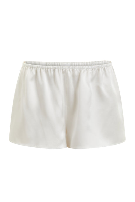 Organic Peace Silk Ivory Shorts
