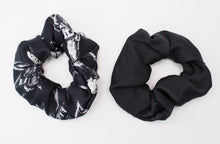 Load image into Gallery viewer, Organic Peace Silk Hair Scrunchies - Set of Two