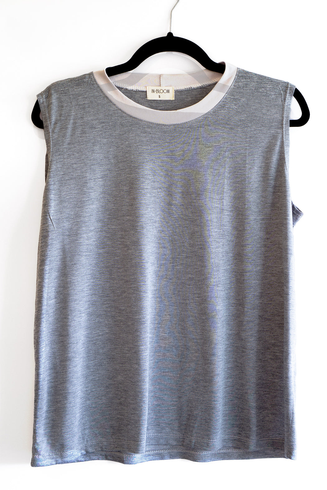 Lori gray sleeveless shirt