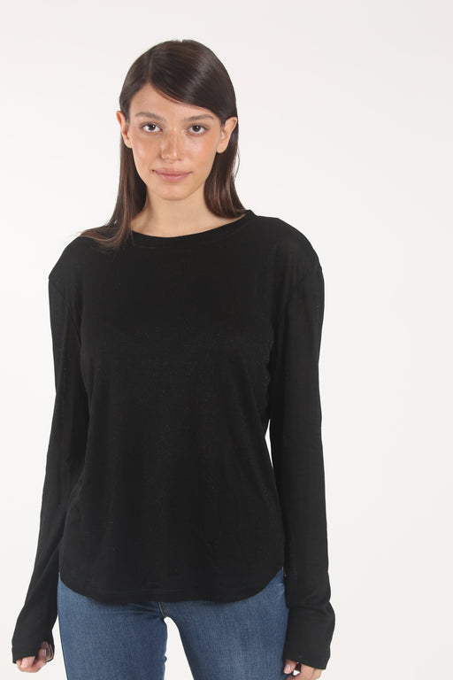 Black lurex Lou top