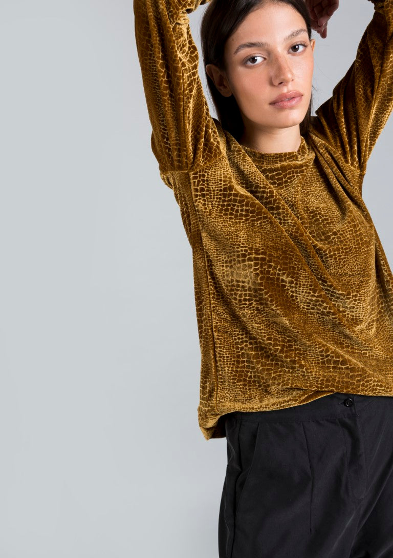 Gold animal print Tom sweatshirt
