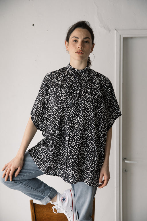 Noya black and white animal print  shirt