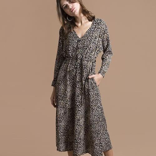 Brown leopard Lou dress