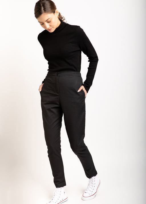 Maayan dark gray high-waist pants