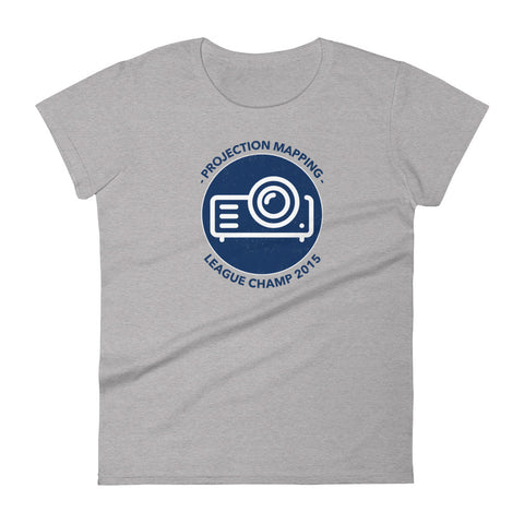 Projection Mapping League Champ 2015 Heather Grey Women's Tee