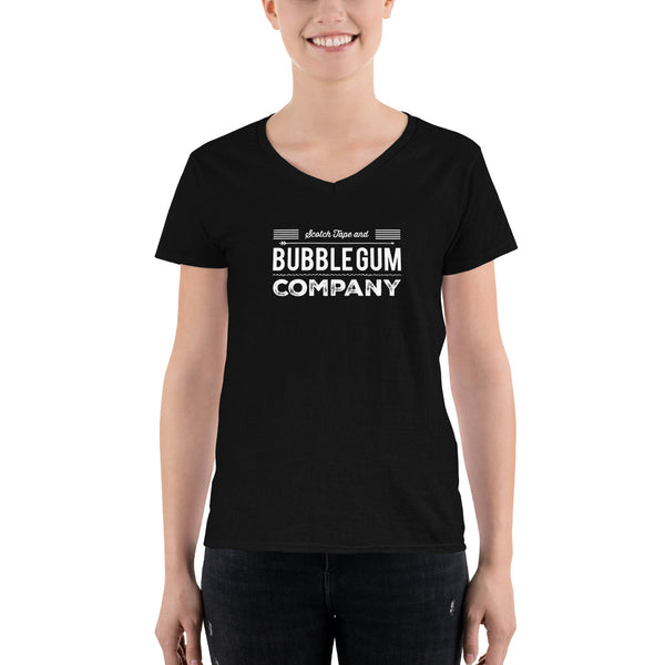 Scotch Tape and Bubble Gum Co. Women's V-neck Tee - Let's Set the Stage
