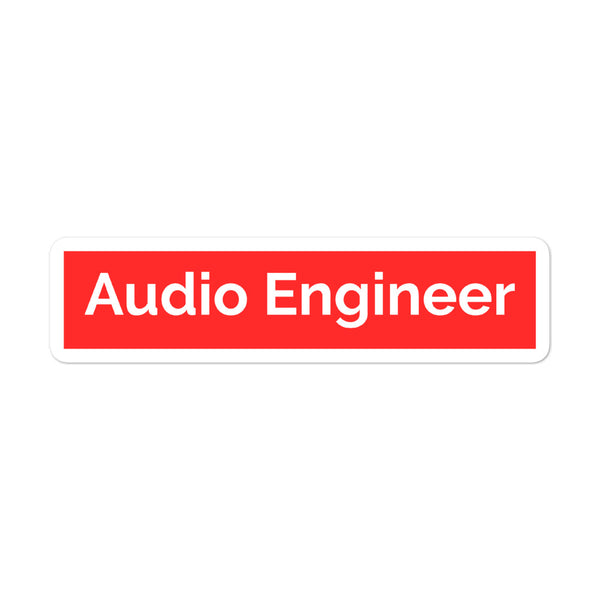Supreme Audio Engineer Vinyl Sticker - Let's Set the Stage