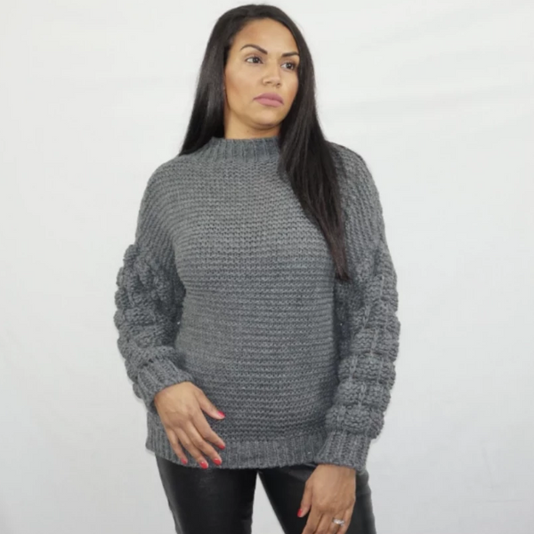 Womens Fashion - Eve Bobble Knitted Jumper