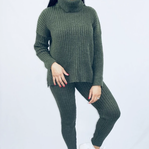 Womens Winter Casual Cheap Clothing - Zoe knitted Tracksuit