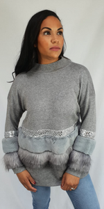 Womens Winter Clothing - Foxy Fur Jumper
