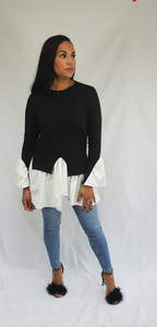 Womens Clothing - Sheree Black Shirt Jumper