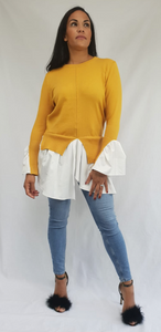 Womens Fashion - Sheree Yellow Shirt Jumper
