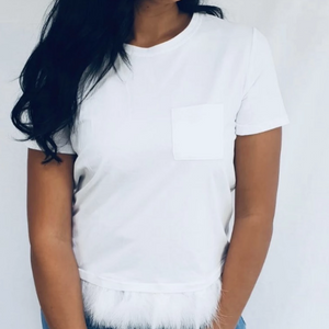 Womens Fashion - Francis White Basic Tee