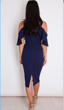 Load image into Gallery viewer, Womens Fashion - Cara Ruffle Blue Dress