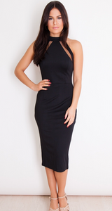 Womens Black Dress - Nori Mesh Dress