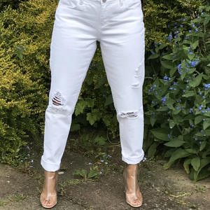 Womens Clothing - White Jeans