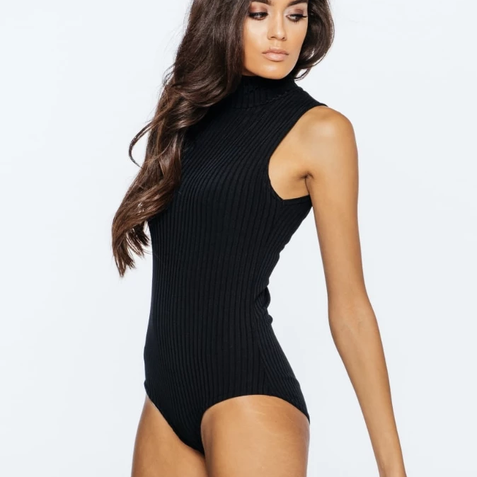 Womens Tops - Megan Funnel Neck Bodysuit