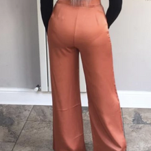 Load image into Gallery viewer, Womens Flared Trousers - Gemma Copper High Waist