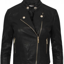 Load image into Gallery viewer, Womens Black Jacket - Naomi Biker Jacket