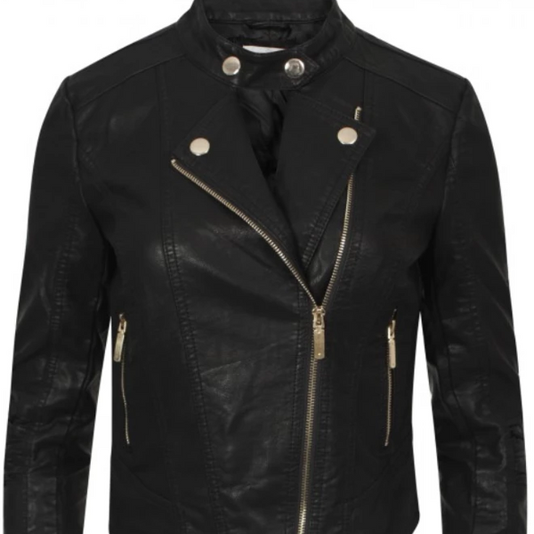 Womens Black Jacket - Naomi Biker Jacket