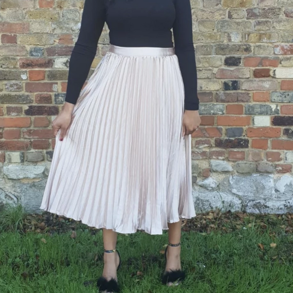 Womens Clothing Boutique London - Elsa Pleated Midi Skirt
