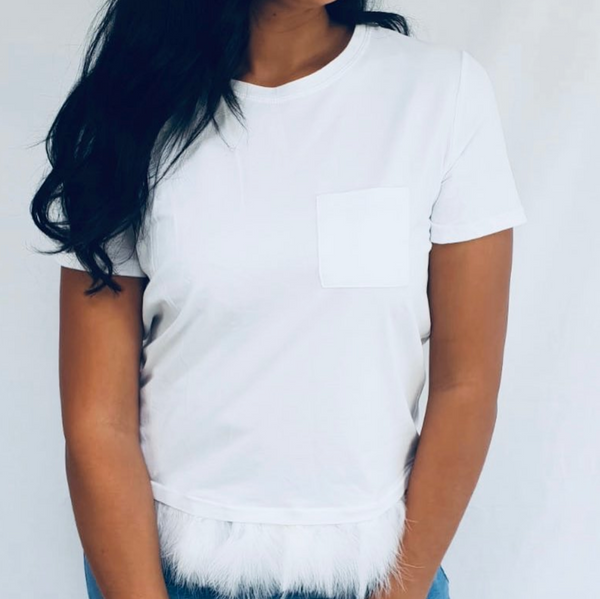 Womens Clothing Boutique - Francis Feathered T-Shirt