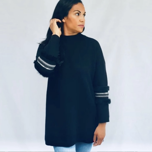 OSW - Black Knitwear - Oversized Jumper Dress