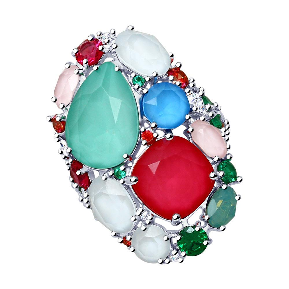 Paradis.Love Jewelry 6 1/2 925 Rhodium Plated Sterling Silver Passion Ring with Swarovski Crystals
