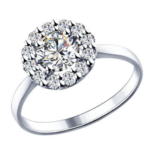 Paradis.Love Jewelry 6 Sterling Silver Ring 925  Swarovski Zirconia - 1,44 c