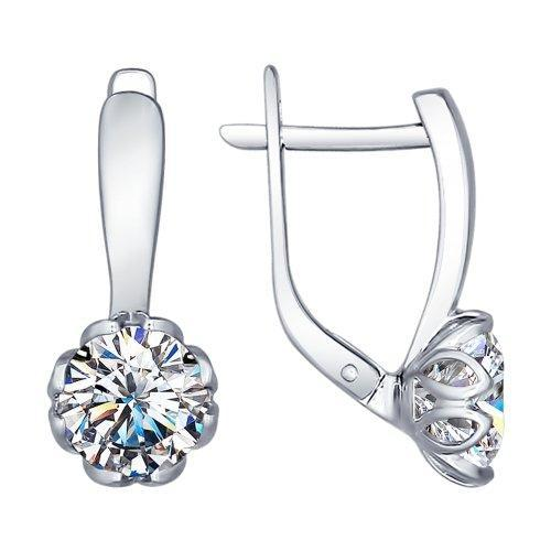 Paradis.Love Jewelry Sterling Silver Magic Flower Earrings w/t Swarovski Crystals