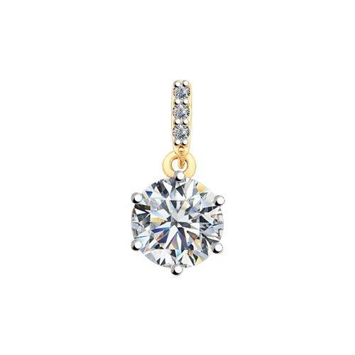 Paradis Love  Gold Plated Sterling Silver Pendant with Swarovski Zirconia