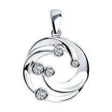 Paradis Love  Sterling Silver Pendant with Cubic Zirconia