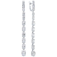 Paradis.Love Jewelry Sterling Silver Drop Earrings w/t Cubic Zirconia Crystals 29.5 cttw