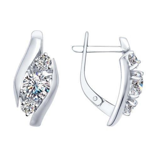 Paradis.Love Jewelry Sterling Silver Flourishing Life Earrings w/t Swarovski Crystals