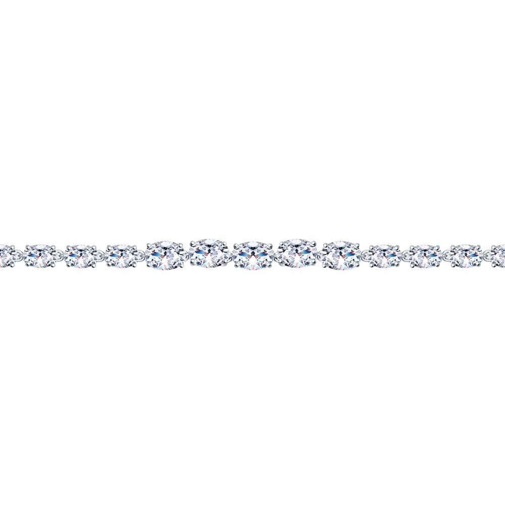 Paradis.Love Jewelry 925 Rhodium Plated Sterling Silver Bracelet with Swarovski Crystals