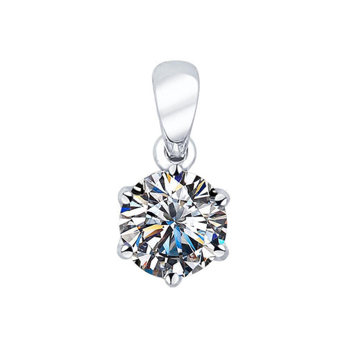 Paradis.Love Jewelry 925 Rhodium Plated Sterling Silver Pendant 925 with Cubic Zirconia  Crystals