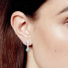 Paradis.Love Jewelry Sterling Silver Elegant Earrings with genuine Swarovski Crystals.