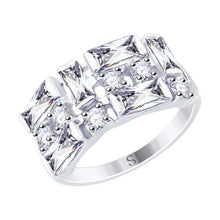 Paradis.Love Jewelry Sterling Silver Statement Ring w/t CZ