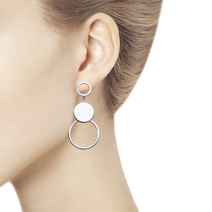 Paradis.Love Jewelry Sterling Silver Circles Drop Earrings
