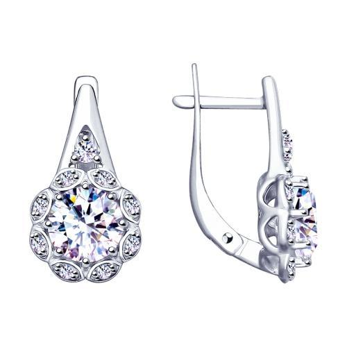 Paradis.Love Jewelry Sterling Silver Amaryllis Halo Earrings w/t CZ
