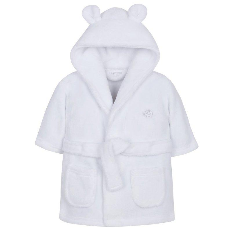 Personalised White Baby Hooded Dressing Gown