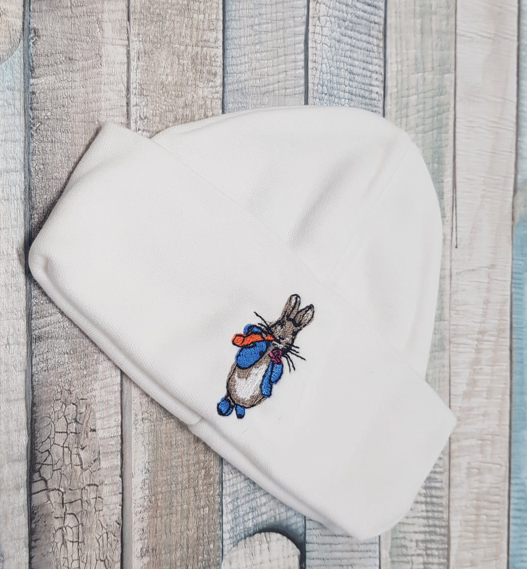 Half moon Peter Rabbit hat